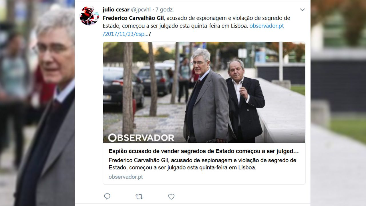 Frederico Carvalhao Gila przekazywał Rosjanom poufne informacje (fot. tt/ julio cesar)