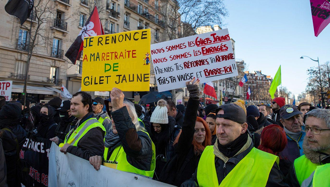 Fala protestów we Francji (fot. Jerome Gilles/NurPhoto via Getty Images)