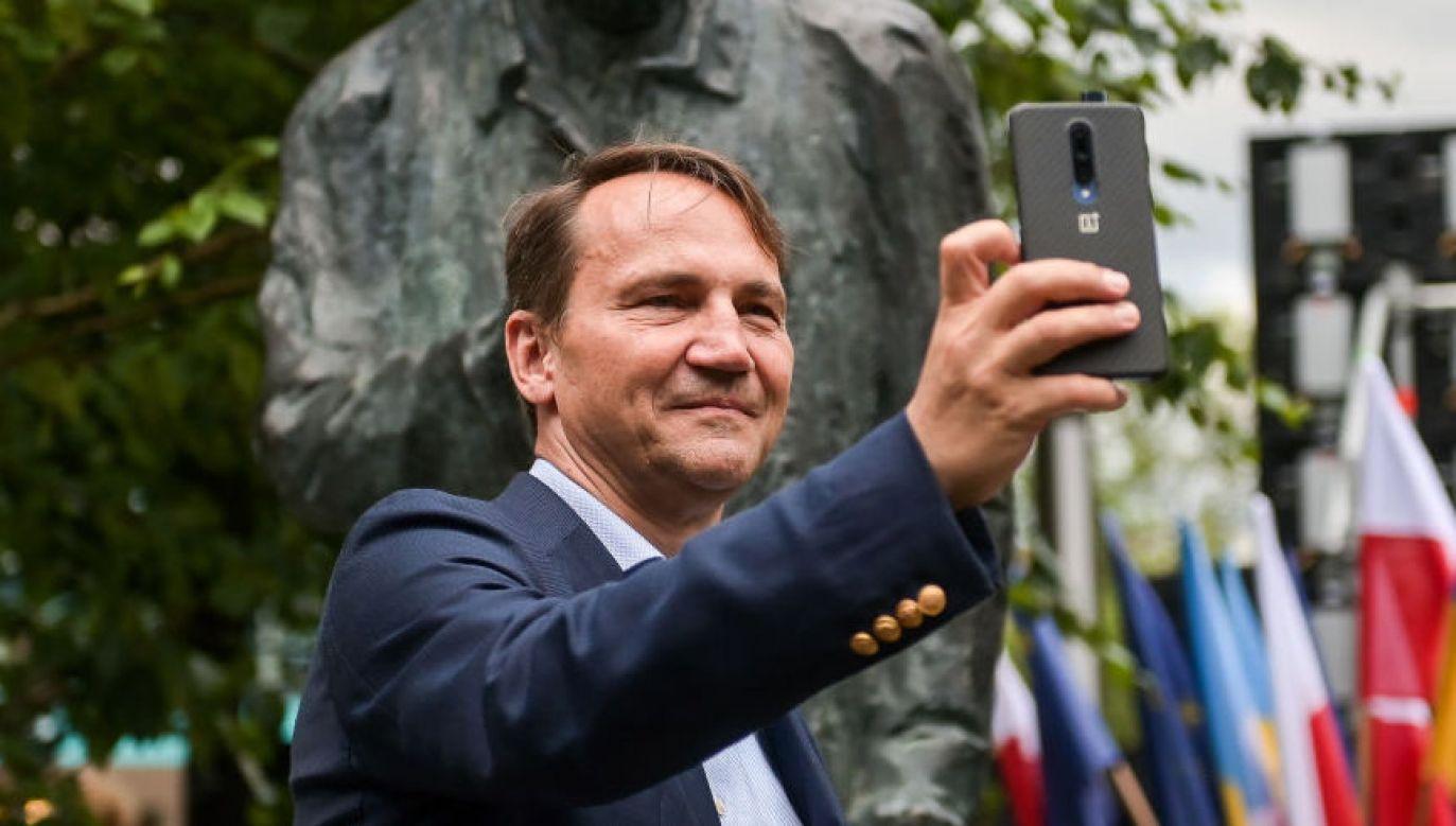Radosław Sikorski, europoseł PO (fot. Mateusz Slodkowski/SOPA Images/LightRocket via Getty Images)
