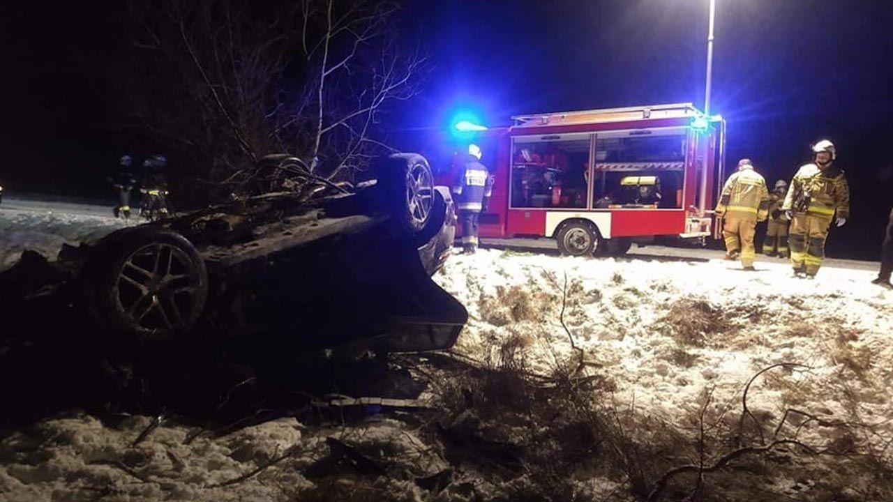 Wypadek miał miejsce 13 stycznia (fot. Facebook/OSP KSRG Zaborowice)