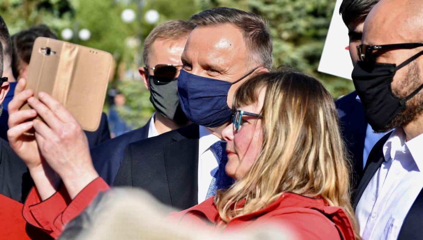 Dla drugiej kadencji Andrzej Duda potrzebowałby II tury wyborów (fot. PAP/Wojtek Jargiło)