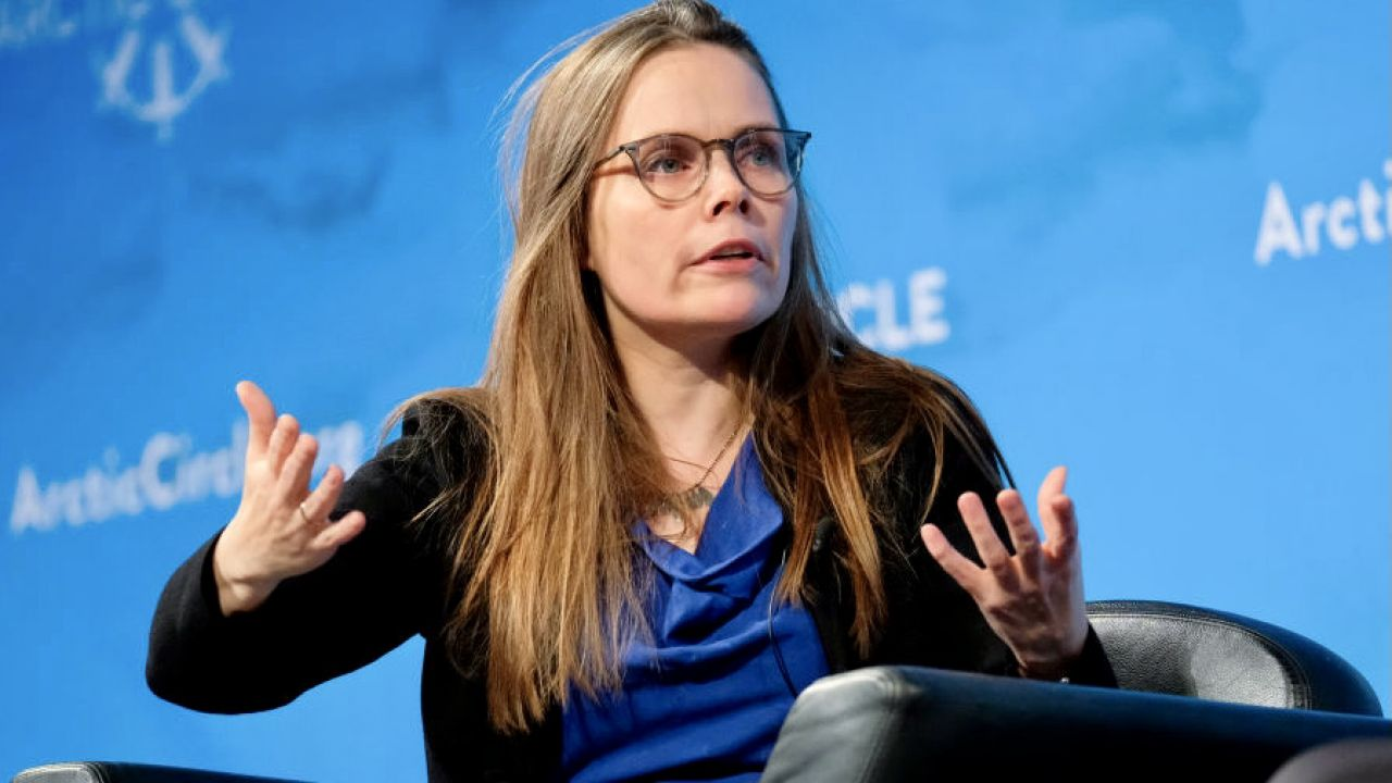 Premier Islandii - Katrín Jakobsdóttir  (fot. Matthew Eisman/Getty Images)