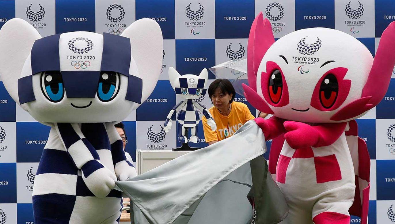 Prezentacja robota-maskotki igrzysk olimpijskich w Tokio 2020 (fot. PAP/EPA/KIMIMASA MAYAMA)