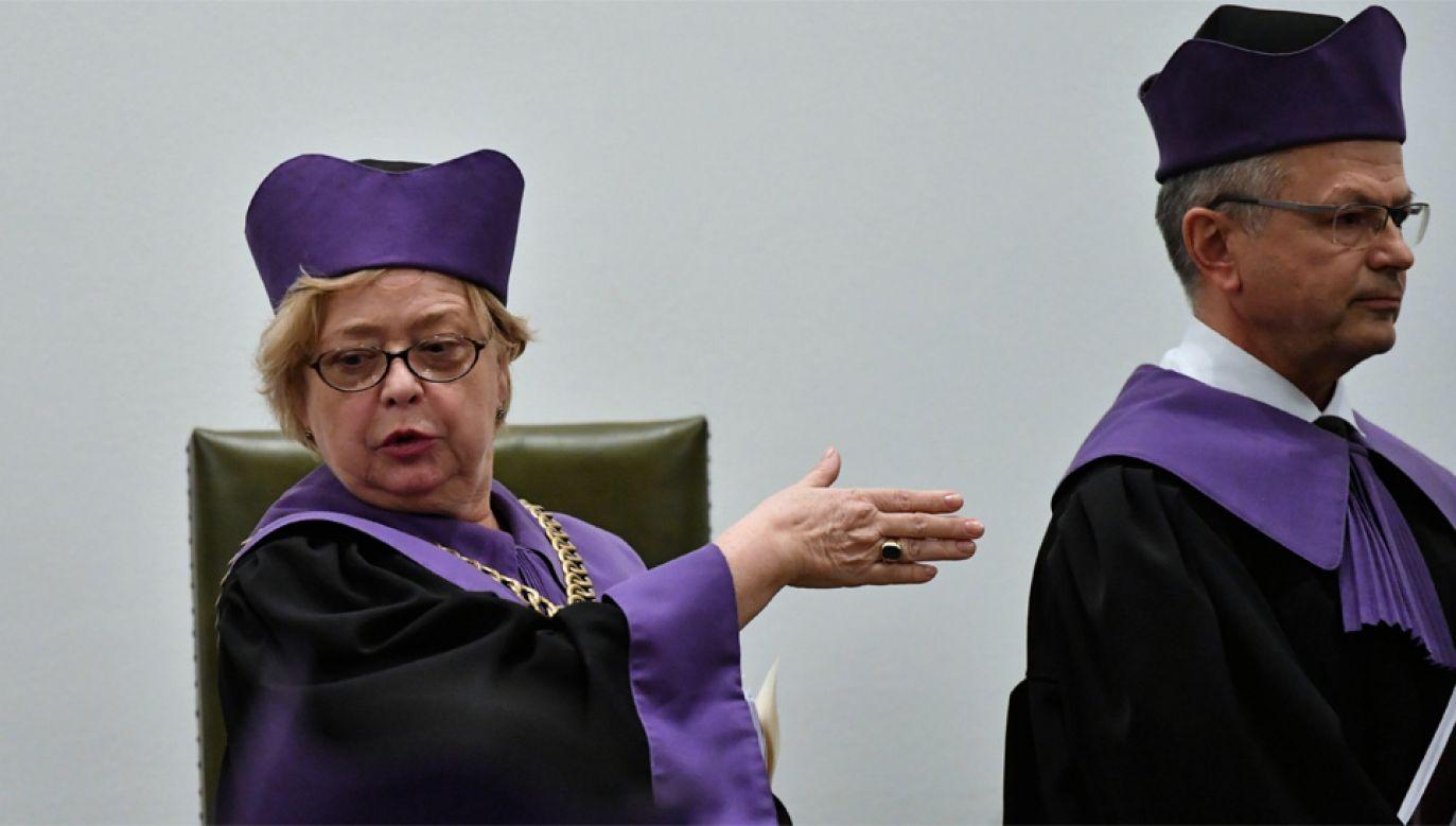 Prezes Sądu Najwyższego Małgorzata Gersdorf występuje przeciwko reformie sądownictwa (fot. PAP/Piotr Nowak)