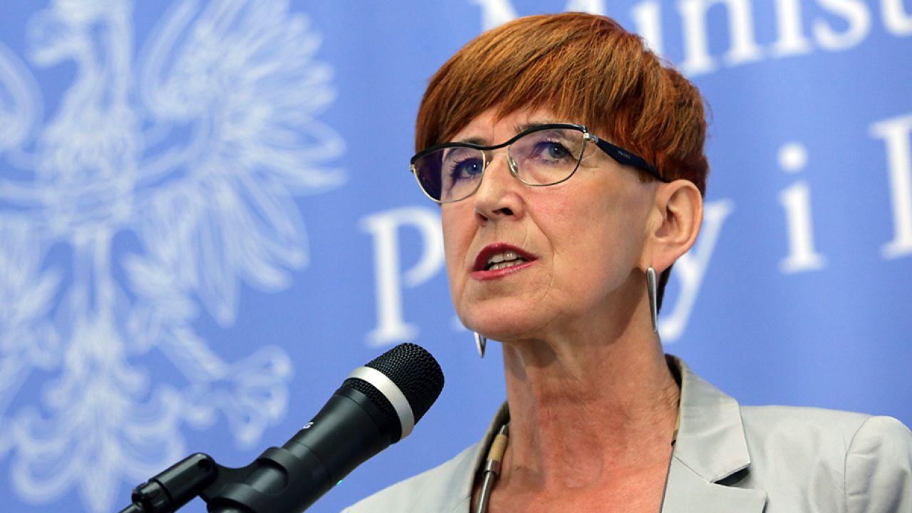 Szefowa resortu pracy i polityki społecznej Elżbieta Rafalska (fot. PAP/Tomasz Gzell)
