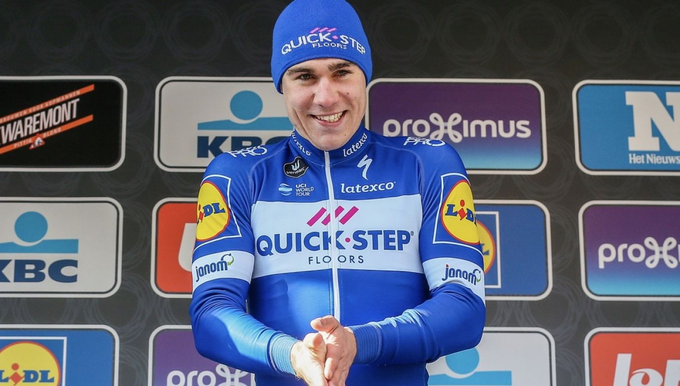 Fabio Jakobsen ma 23 lata (fot. PAP/EPA/STEPHANIE LECOCQ)