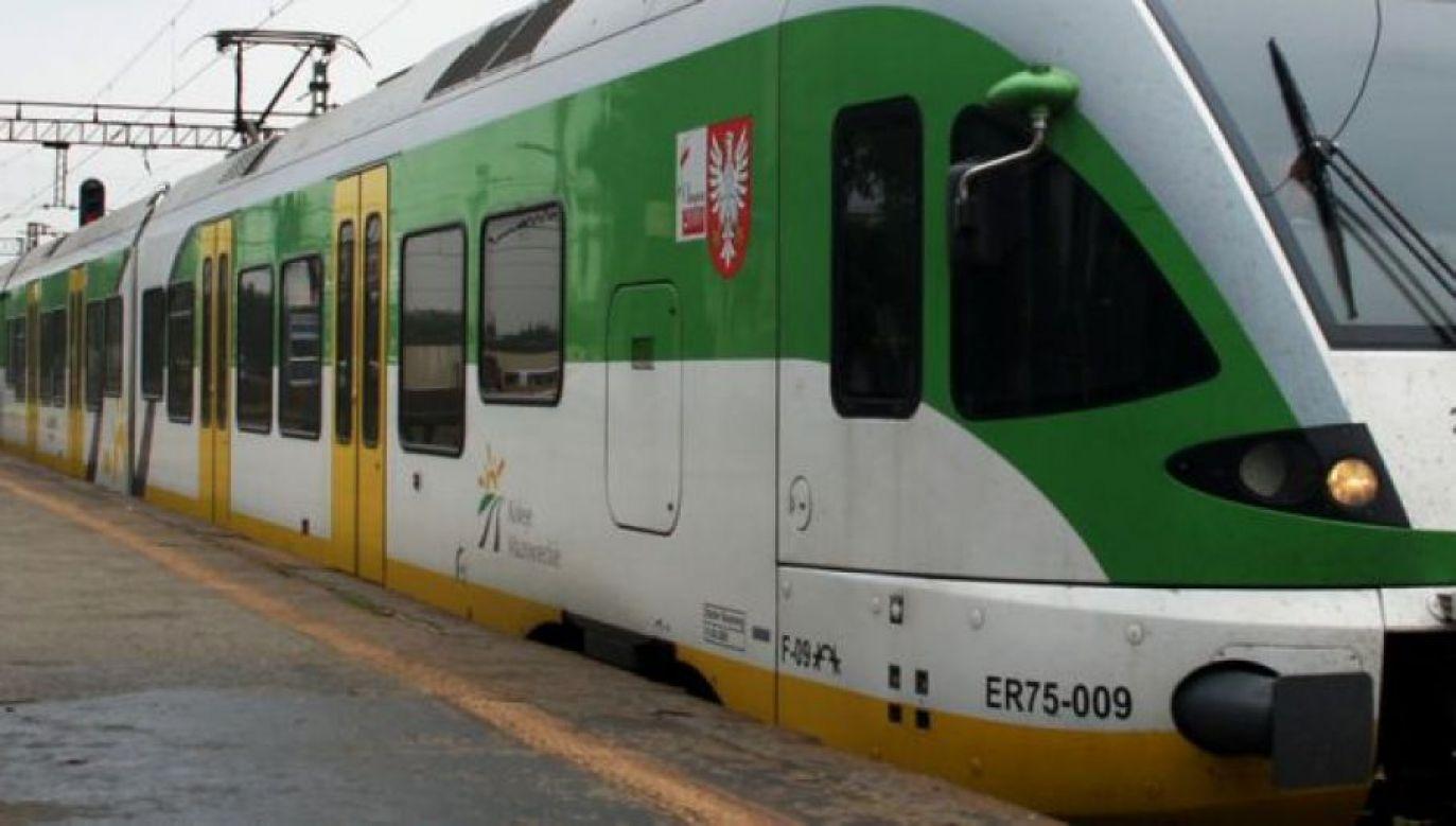 Ruch pociągów został wstrzymany (fot. TVP)