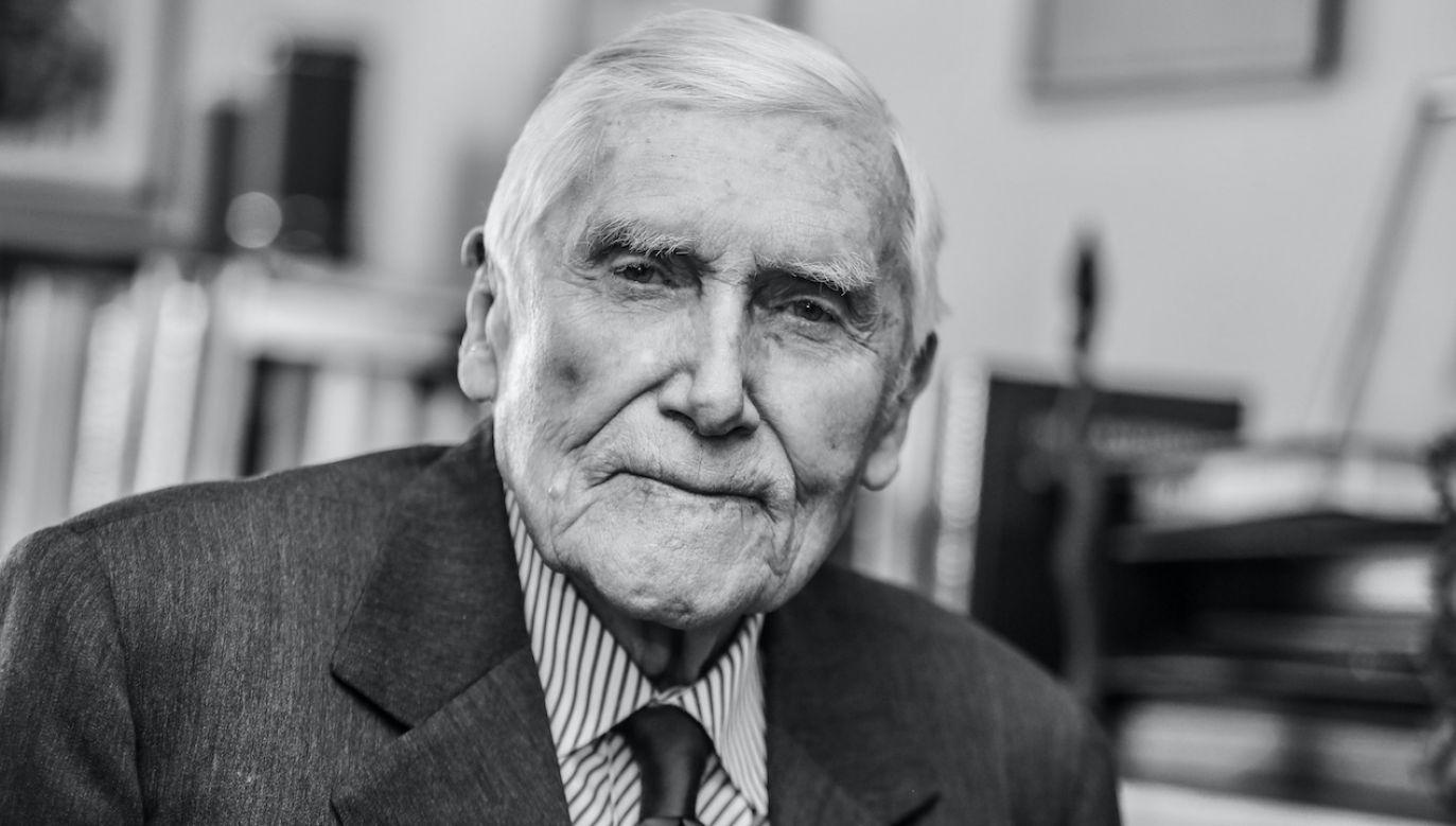 Prof. Witold Kieżun zmarł w wieku 99 lat (fot. arch.PAP/L.Szymański)