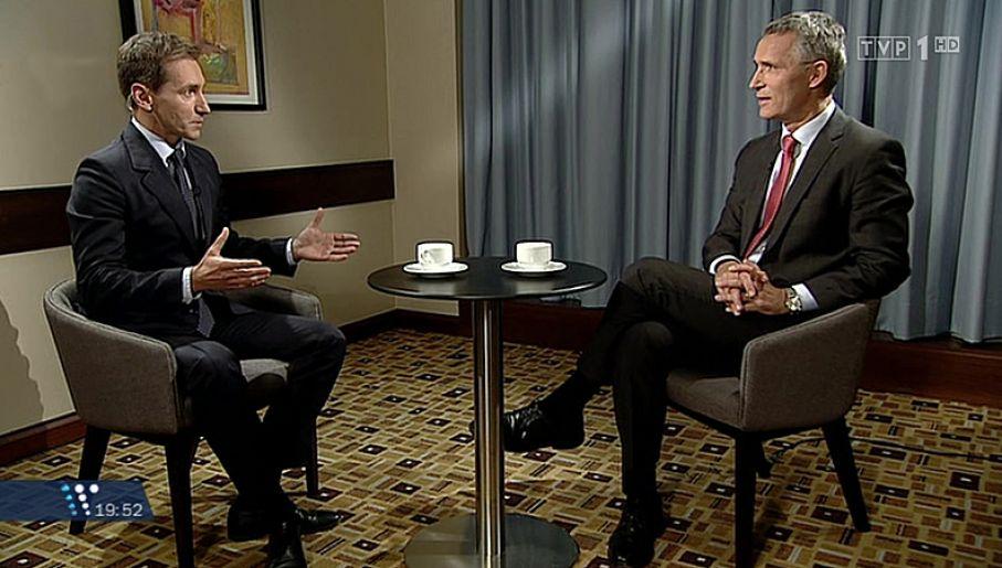 Red. Piotr Kraśko i sekretarz generalny NATO Jens Stoltenberg