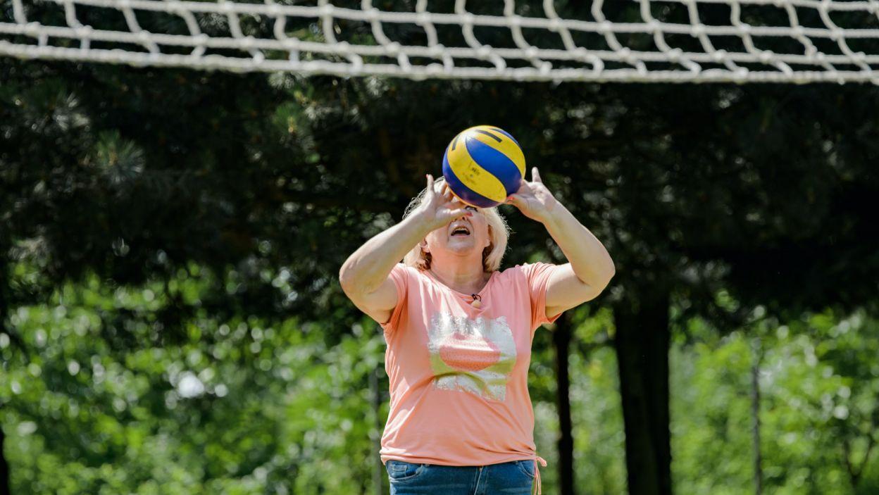 Nie zabrakło czasu na wspólne uprawianie sportu (fot. TVP)