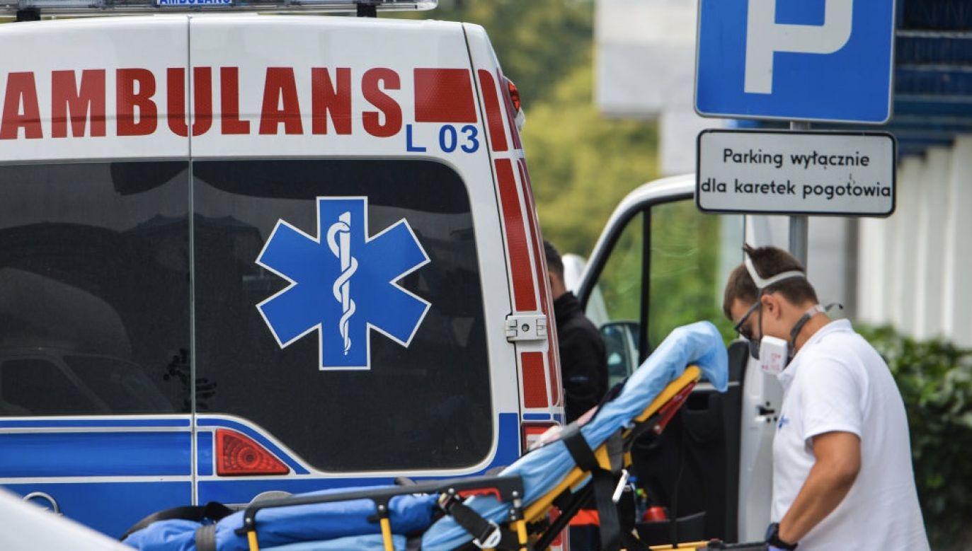 Mężczyzna zmarł w szpitalu w Garwolinie, w którym pracował (fot.  Artur Widak/NurPhoto via Getty Images, zdjęcie ilustracyjne)