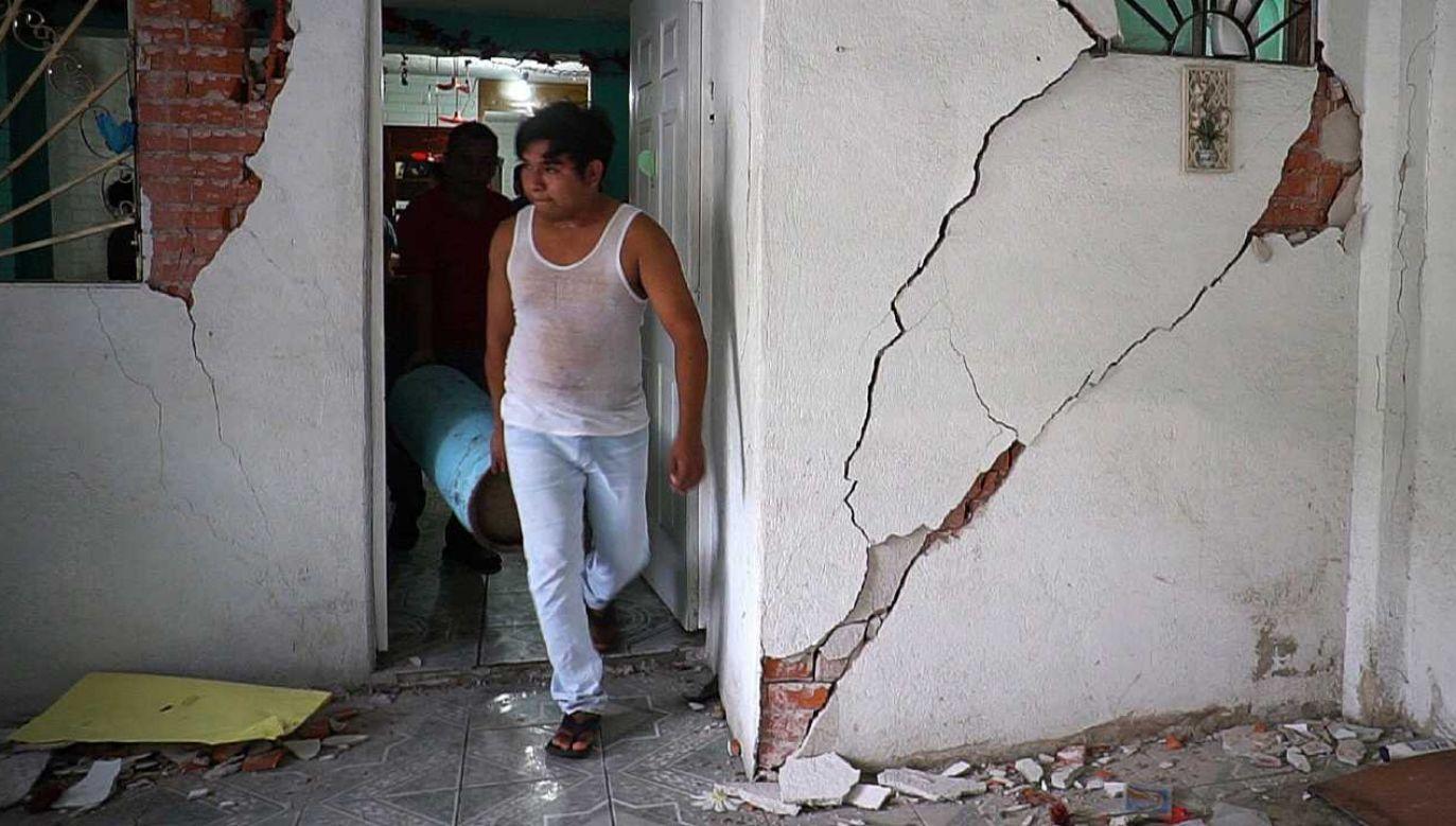 Trzęsienie ziemi miało magnitudę 6,6 stopnia (for. PAP/EPA/Daniel Ricardez)