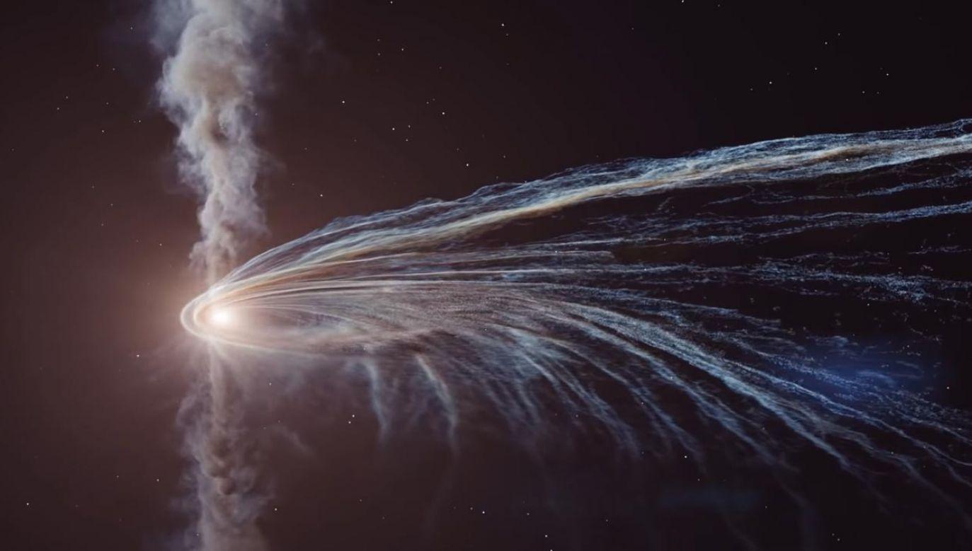 Powstała animacja obrazująca kosmiczny spektakl  (fot. YouTube/APOD Videos)