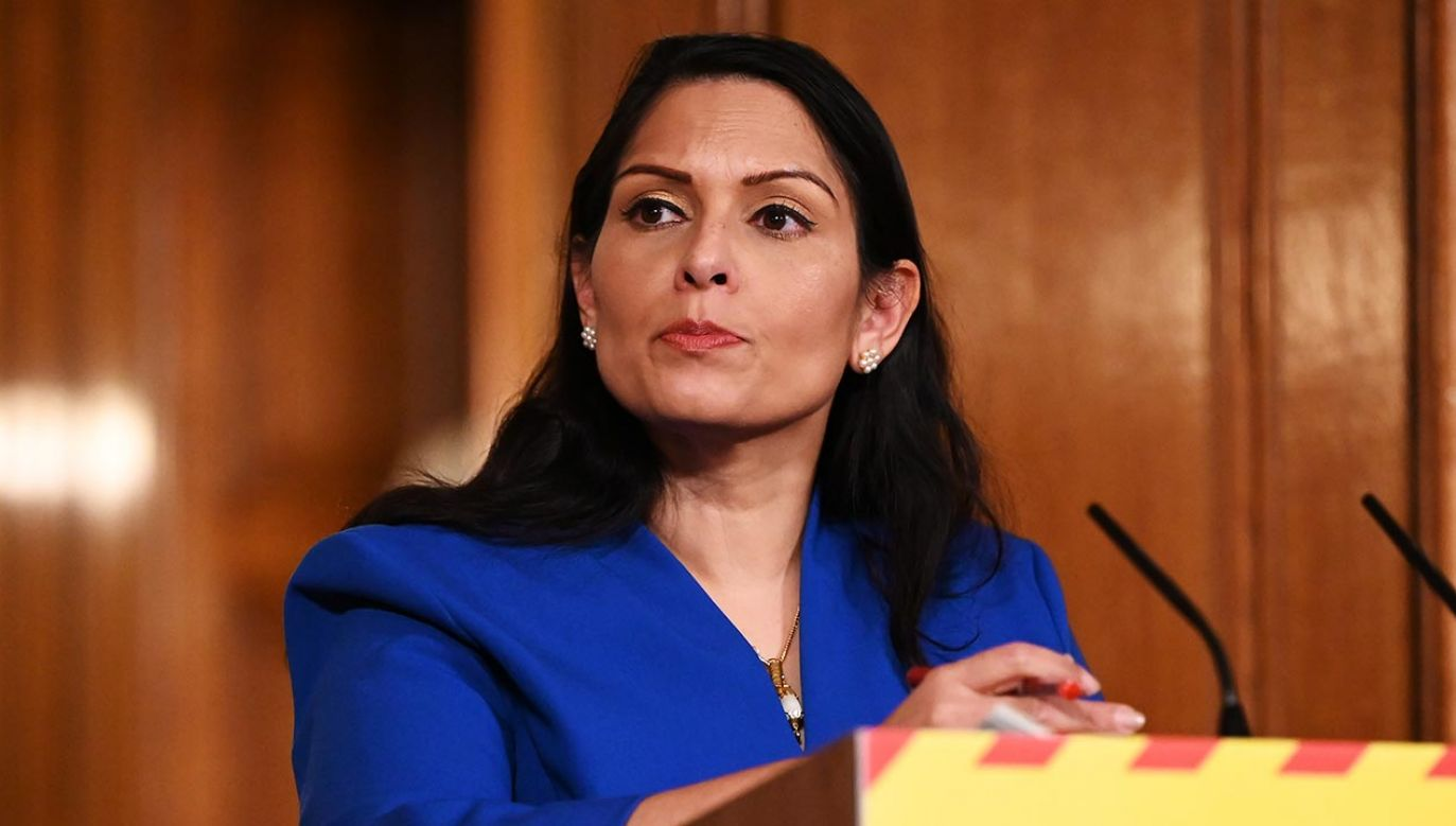 minister spraw wewnętrznych Wielkiej Brytani Priti Patel (fot. Leon Neal/Getty Images)