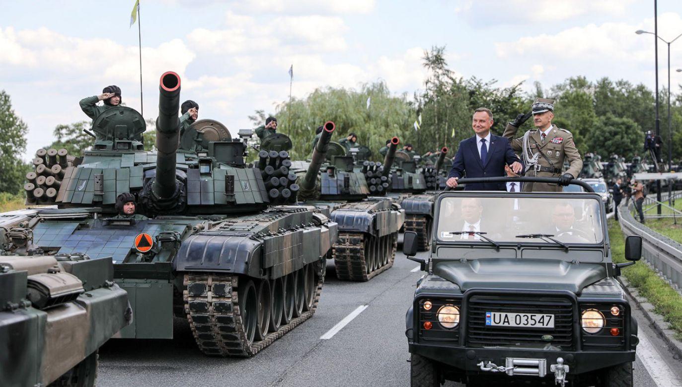 Prezydent Andrzej Duda wziął udział w obchodach Święta Wojska Polskiego w Katowicach (fot. KPRP/Jakub Szymczuk)