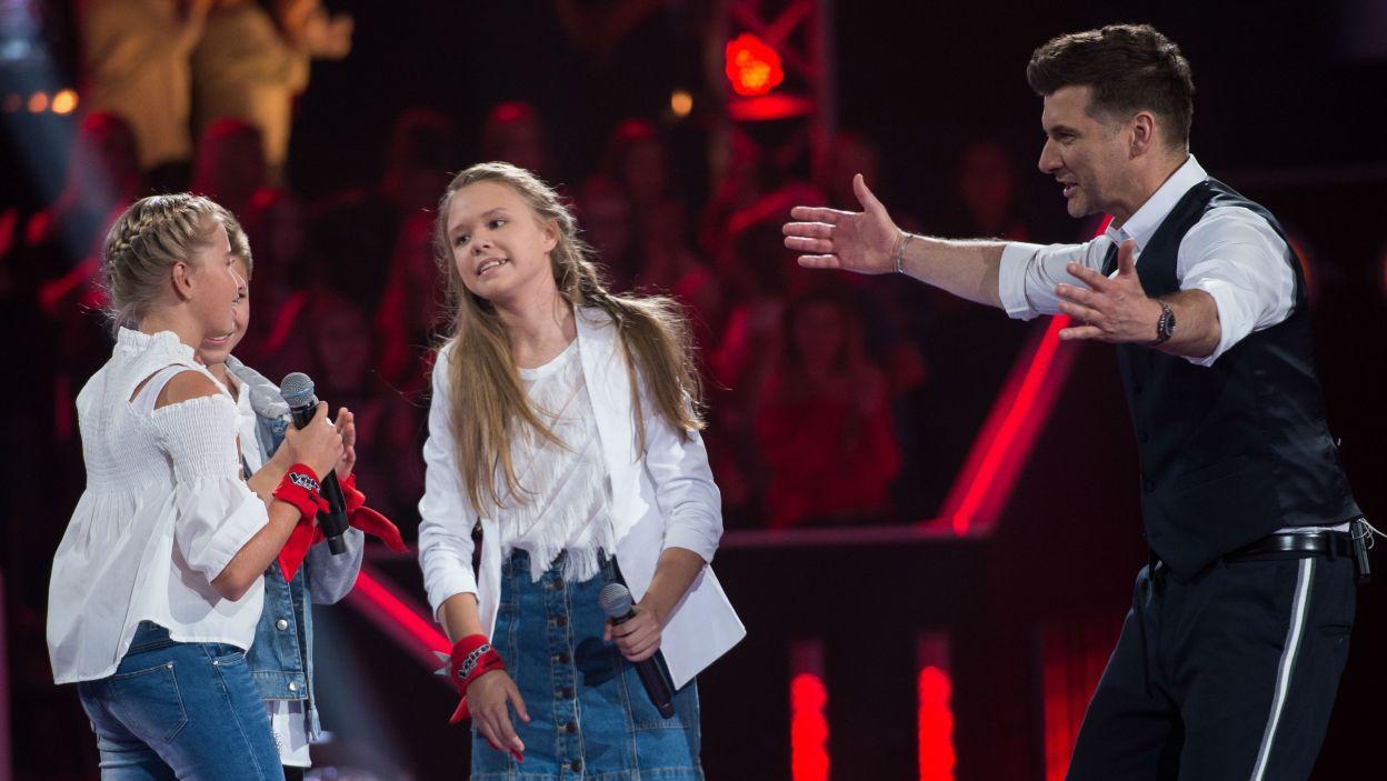 Po występie Tomasz Kammel mógł pogratulować Wiktorii. – Słuchała moich rad i od razu wcielała je w życie – argumentował swój wybór Dawid (fot. J. Bogacz/TVP)