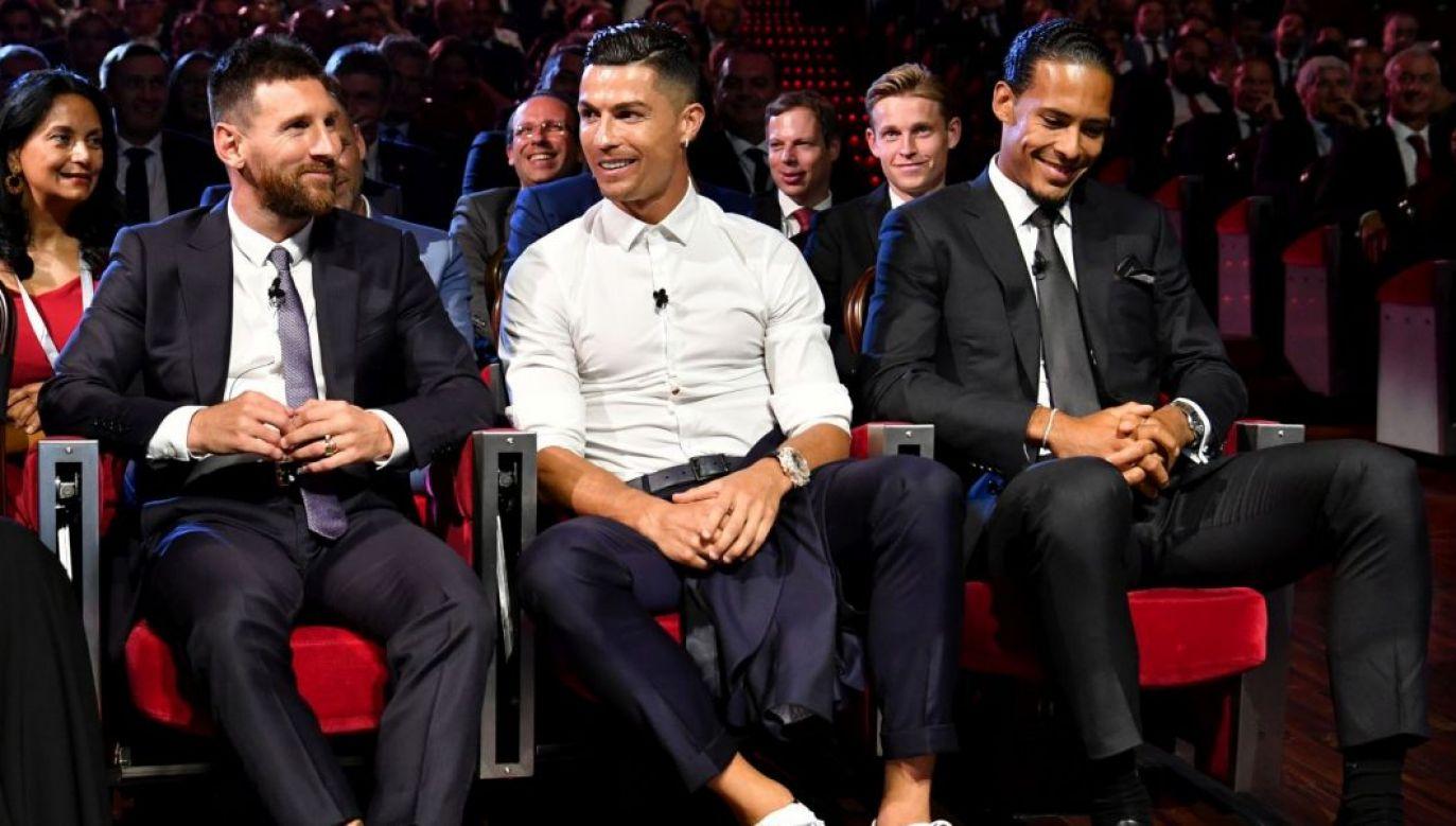 Leo Messi, Cristiano Ronaldo, Virgil van DIjk (fot. Getty Images)