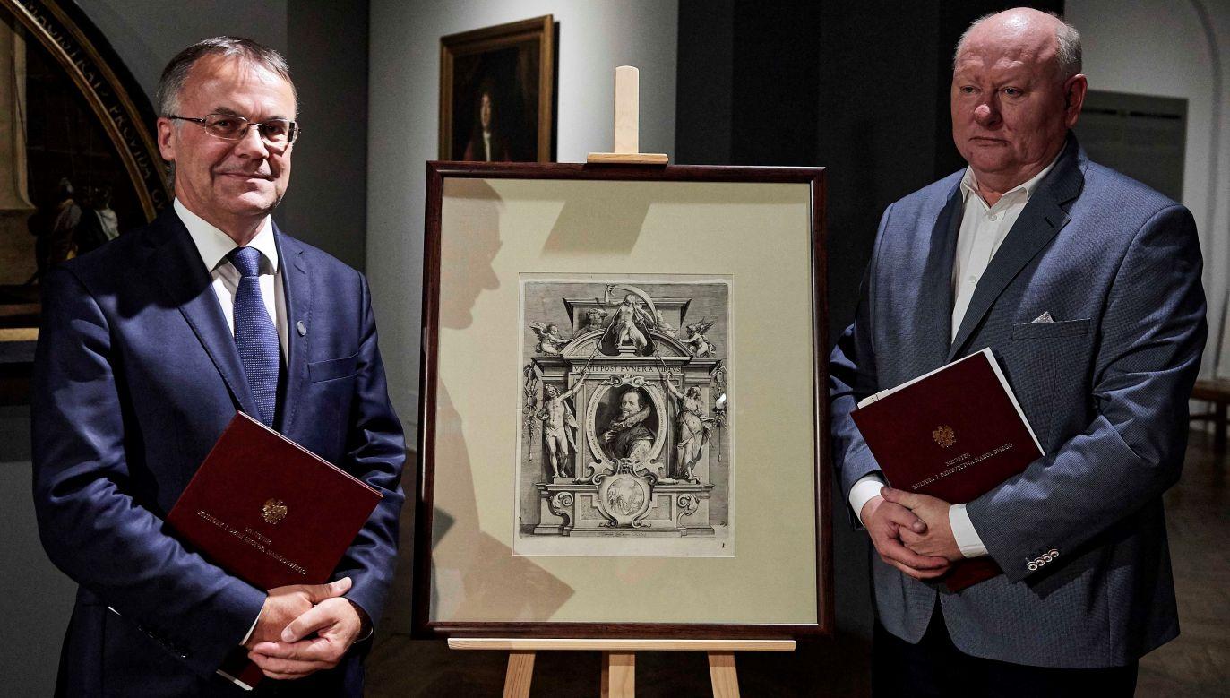 """Portrait of Painter Johann von Aachen"" by Johann Saenredam was returned to National Museum in Gdańsk Photo: PAP/Adam Warżawa"