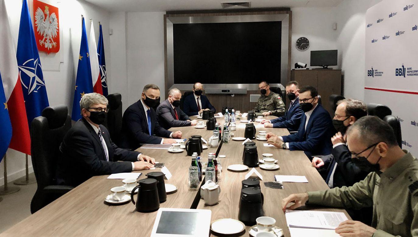 Spotkanie na szczycie w BBN (fot. TT/ BBN)
