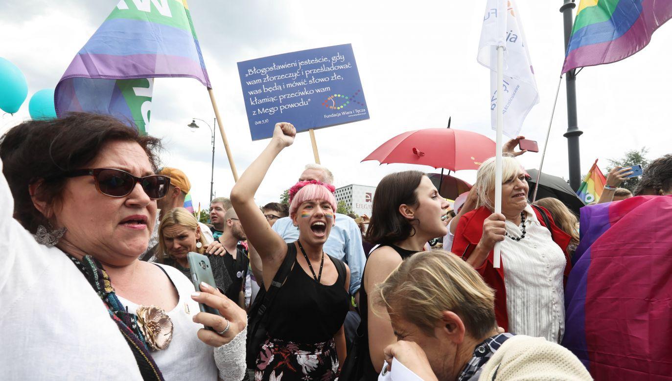 Marsz Równości ochraniało ponad 700 policjantów (fot. PAP/Artur Reszko)