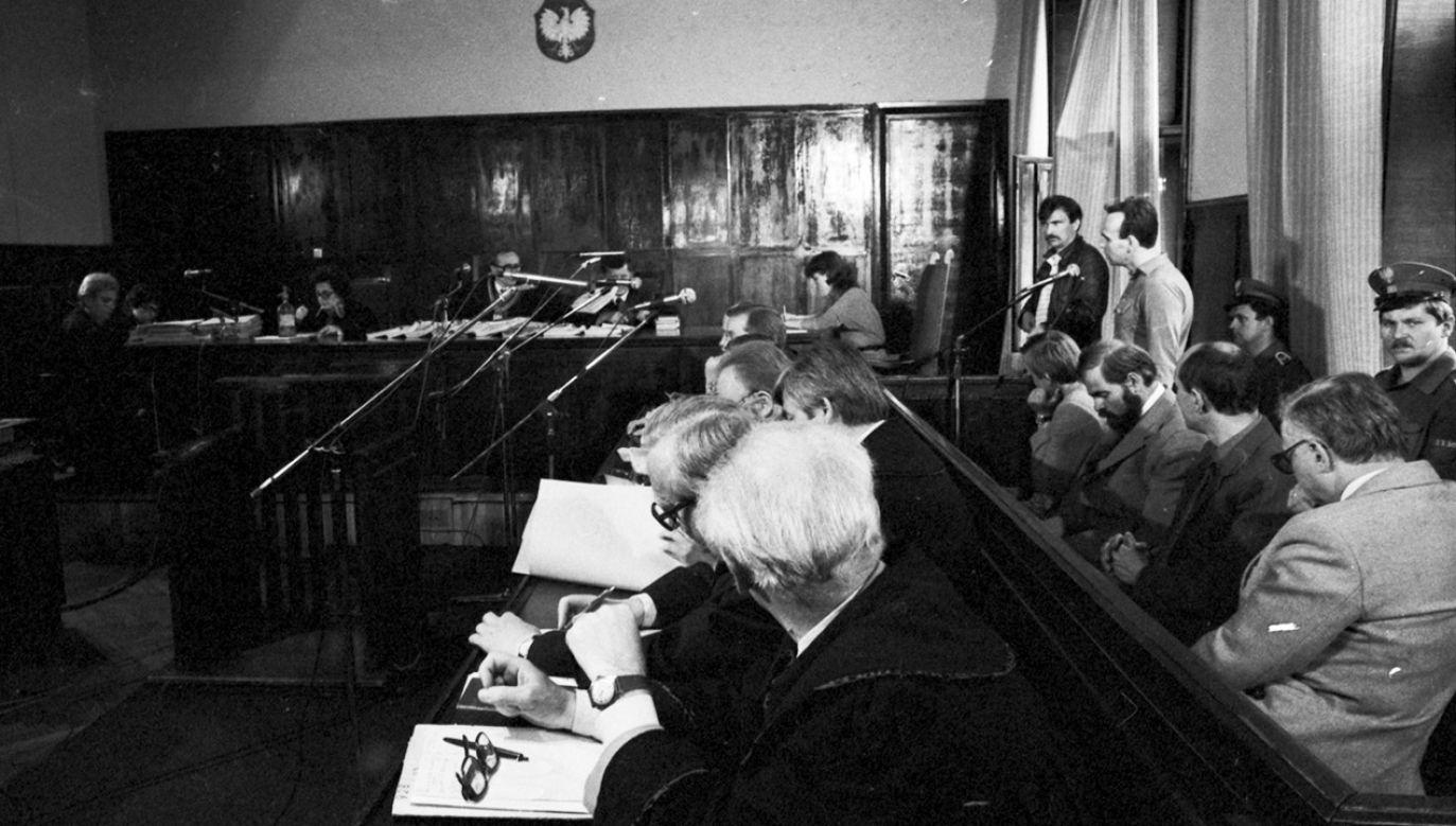 W lipcu 1984 r. sąd uwolnił milicjantów od zarzutu pobicia Grzegorza Przemyka (fot. arch.PAP/Wojciech Frelek)