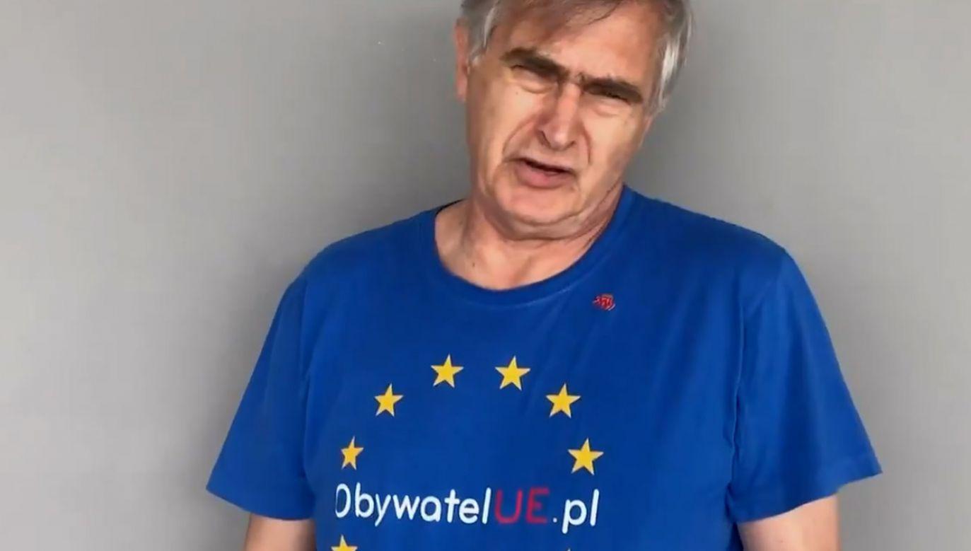 Politycy Platformy Obywatelskiej bronią Wojciecha Pszoniaka, którego spot zdaniem internautów przypomina parodię osób chorych psychicznie. (fot. yt)