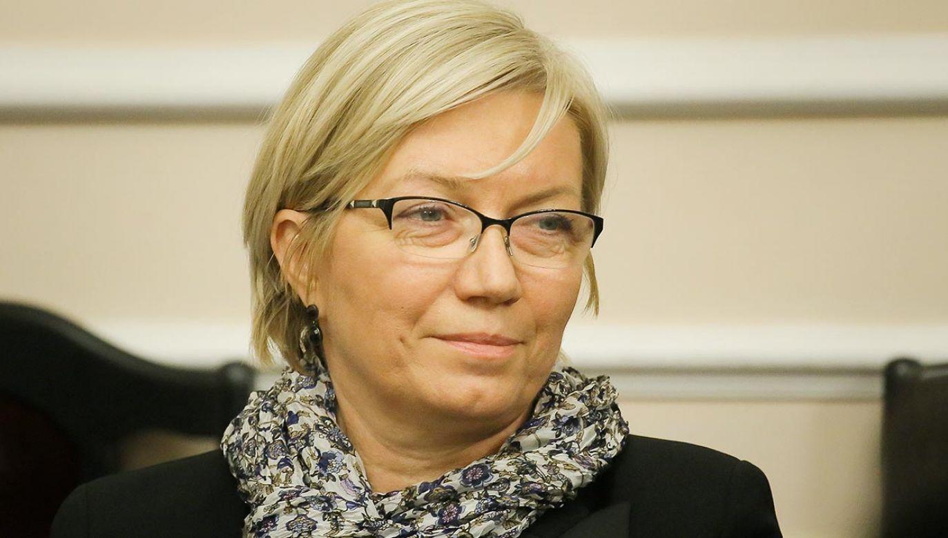 Prezes TK Julia Przyłębska  (fot. PAP/Paweł Supernak)