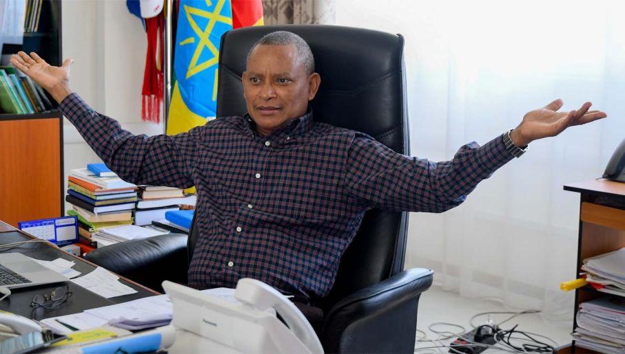 Szef TPLF Debretsion Gebremichael chce secesji Tigraju (fot. PAP/EPA/STR)