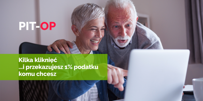 Jesteś emerytem lub rencistą. Chcesz przekazać 1% podatku dla OPP.  Wyślij PIT-OP!