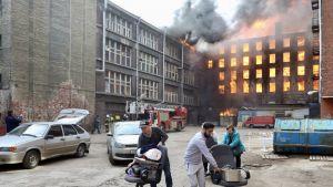 Z budynku ewakuowano 40 osób (fot. V.Yegorshin\TASS\Getty Images)