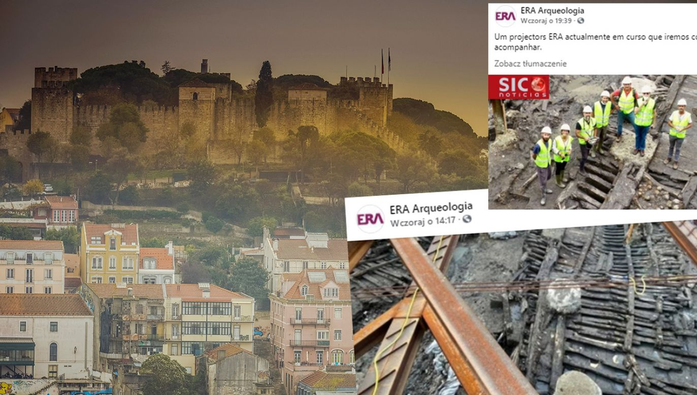W starej części Lizbony odkryto pozostałości statku z XVII w. (fot. Bildagentur-online/Universal Images Group via Getty Images; ERA Arqueologia)
