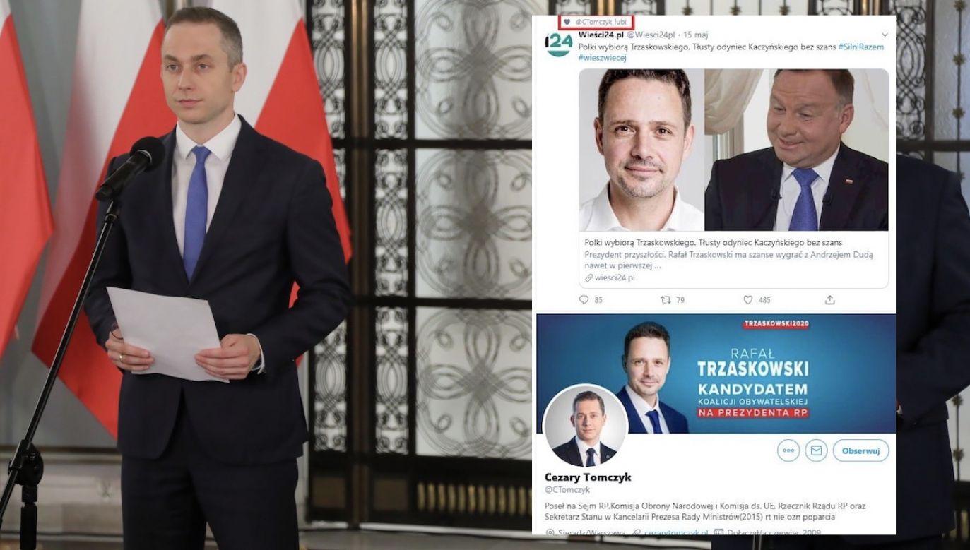 Skandaliczny artykuł udostępniono na Twitterze, opatrując go znanym hasztagiem #SilniRazem (fot. PAP/Wojciech Olkuśnik)