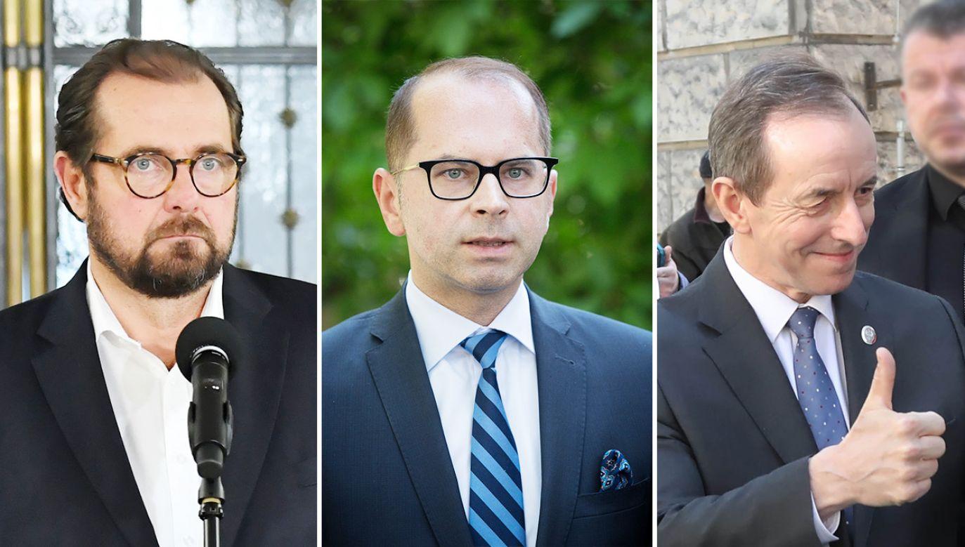 Aleksander Pociej, Michał Szczerba i Tomasz Grodzki (fot. PAP/Piotr Nowak; Rafał Guz/ Getty Images)