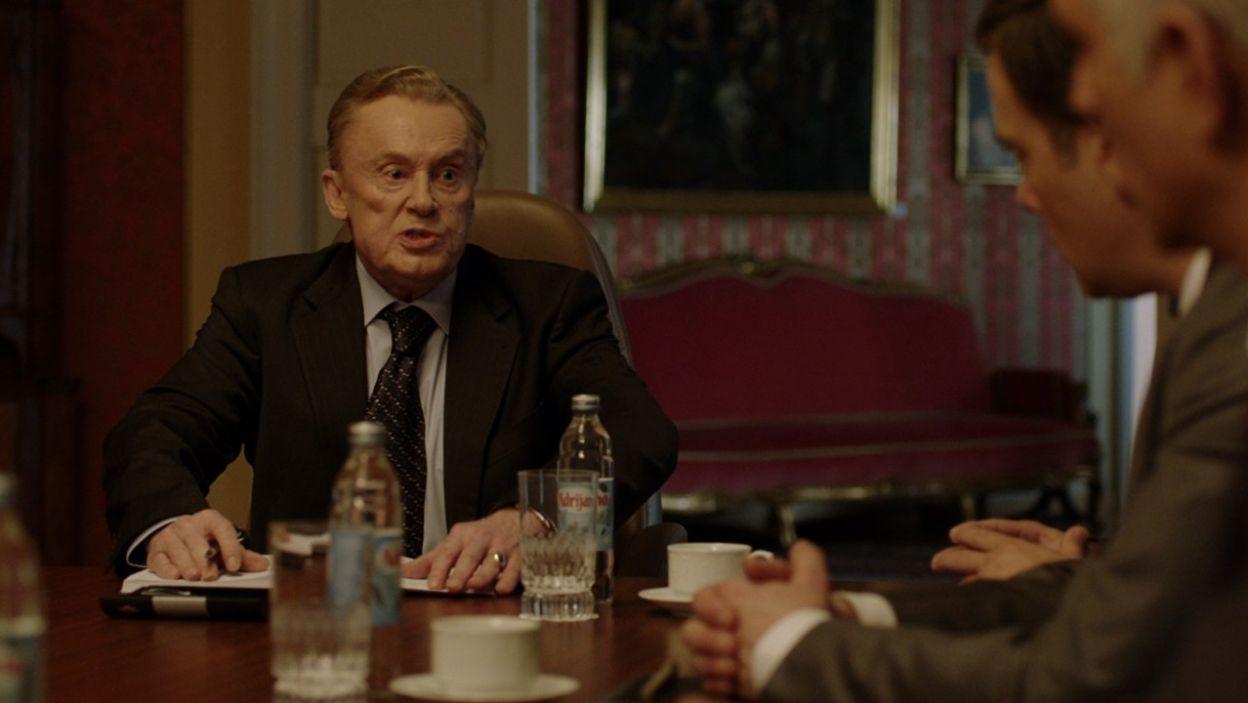 Rolę chorwackiego prezydenta zagrał Daniel Olbrychski (fot. TVP)