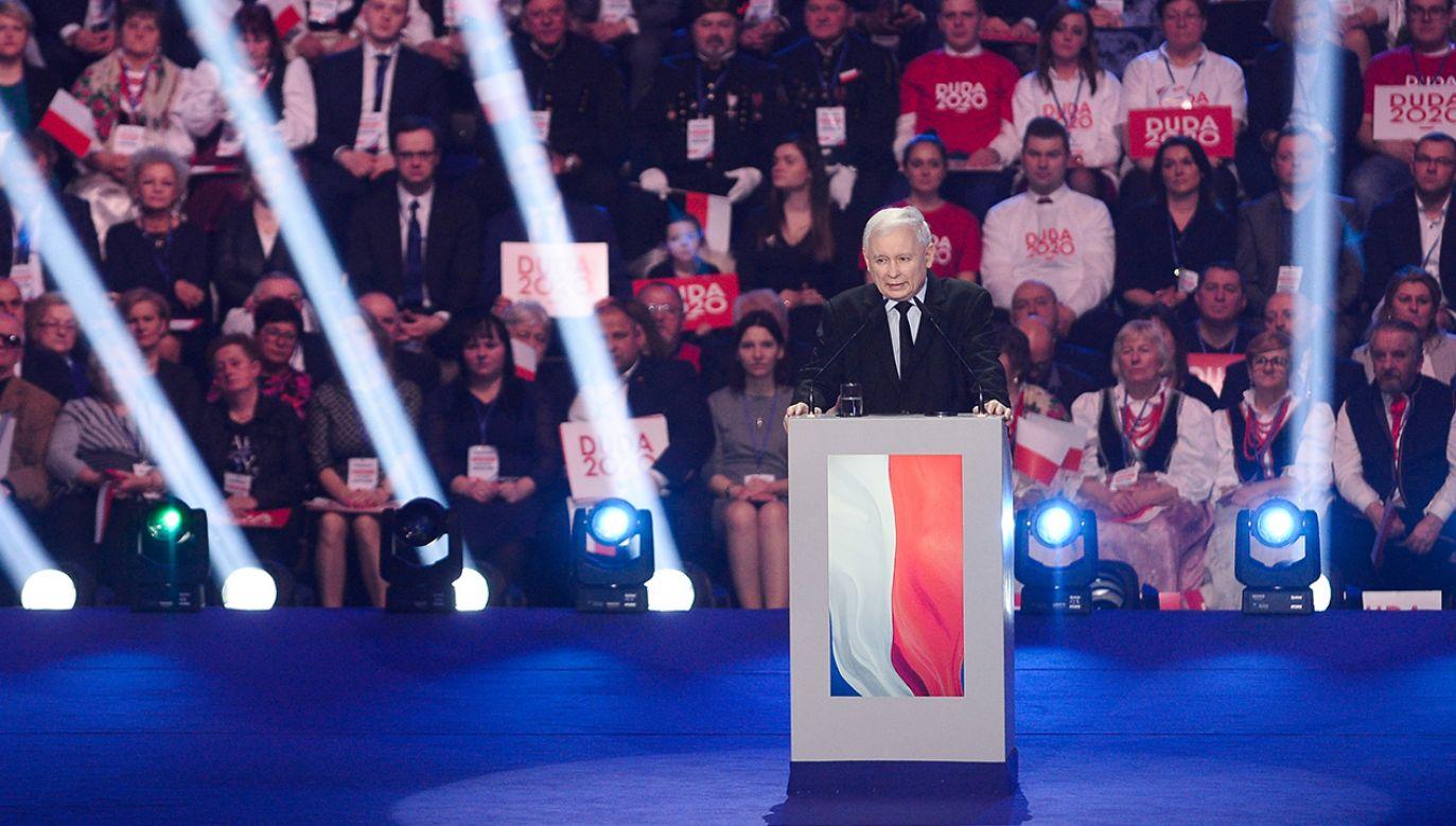 """""""Pan prezydent Andrzej Duda ma ogromne szanse na zwycięstwo"""" (fot. Omar Marques/Getty Images)"""