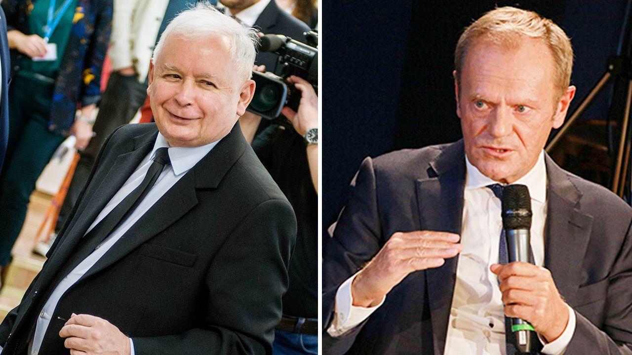 Jak radziła sobie PO Donalda Tuska w porównaniu do notowań PiS? (fot. Getty Images)