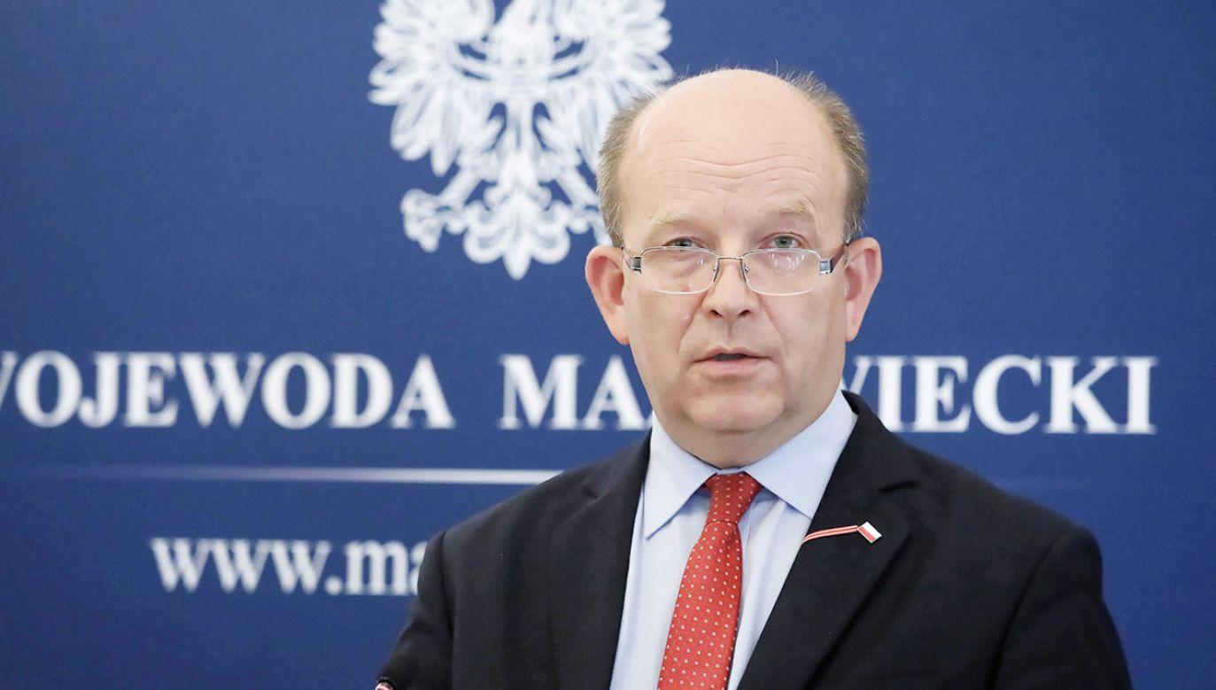Konstanty Radziwiłł zabrał głos ws.  zajętych łóżek na Mazowszu (fot. PAP/Tomasz Gzell)