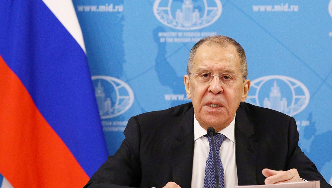 Siergiej Ławrow w obecności szefa unijnej dyplomacji powiedział, że UE to nierzetelny partner (fot. Russian Foreign Ministry/Handout via REUTERS)