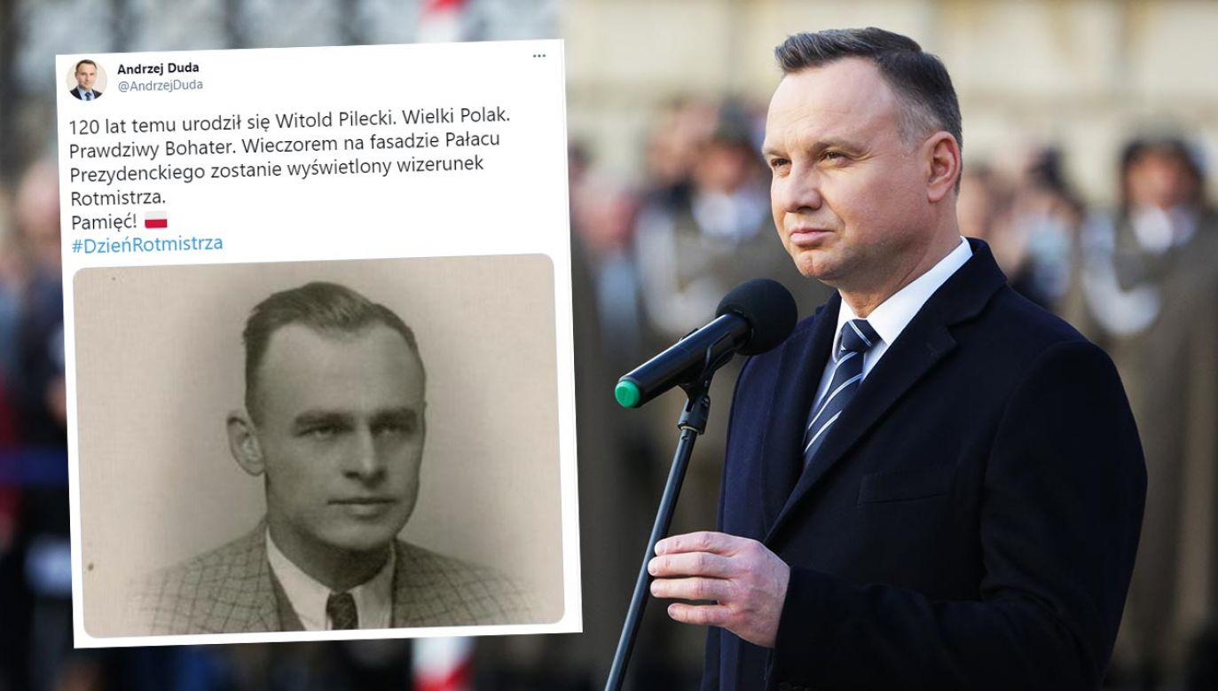 Andrzej Duda pamiętał o rocznicy urodziny Witolda Pileckiego (fot. Forum/Filip Radwanski)