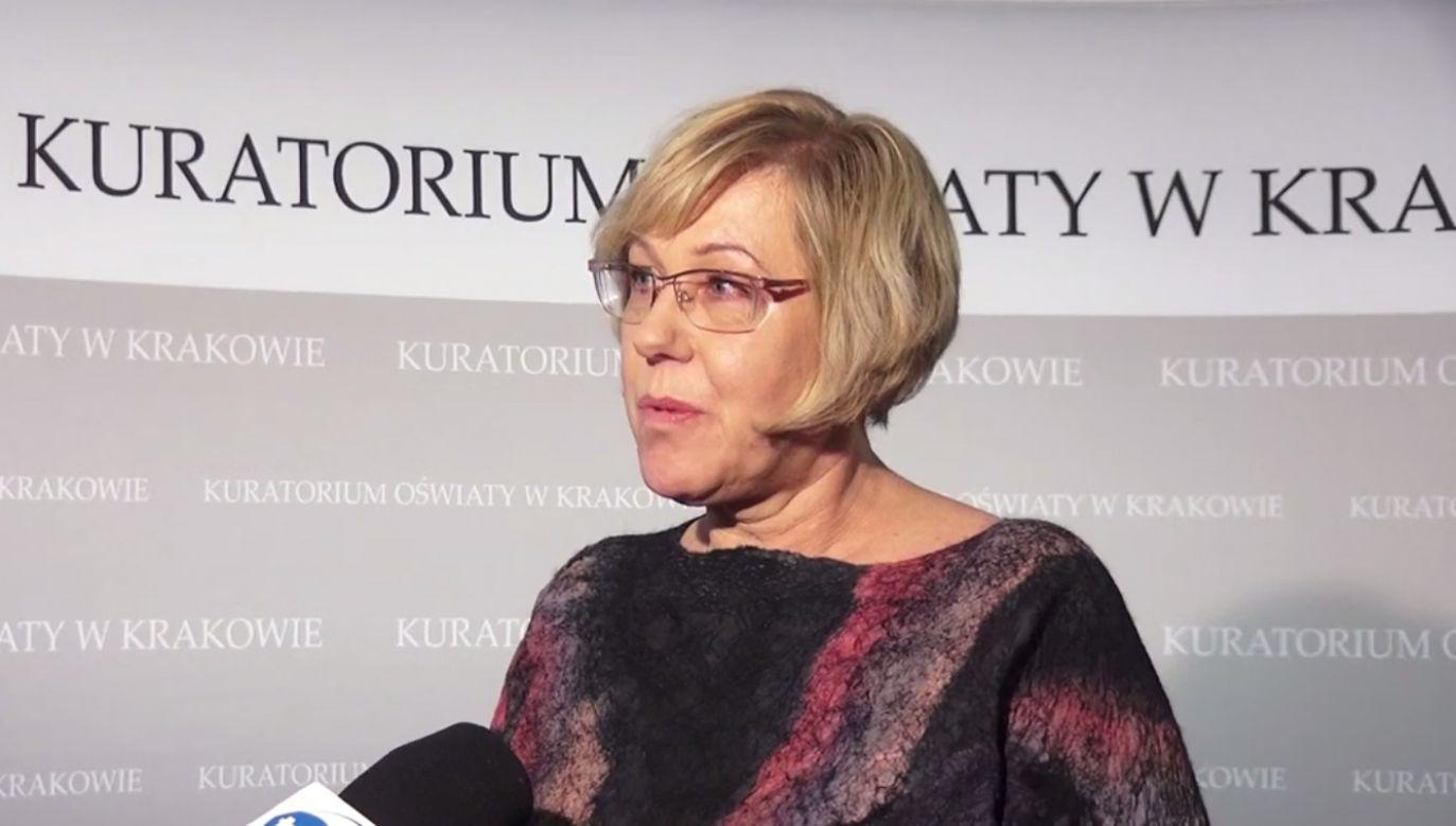 Barbara Nowak jest szefową małopolskiego kuratorium oświaty od marca 2016 roku (fot. YT/ Barbara Nowak)