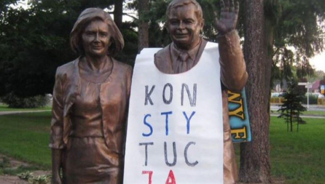 W opinii działaczy KOD był to happening (fot.Twitter/@arekpisarski)