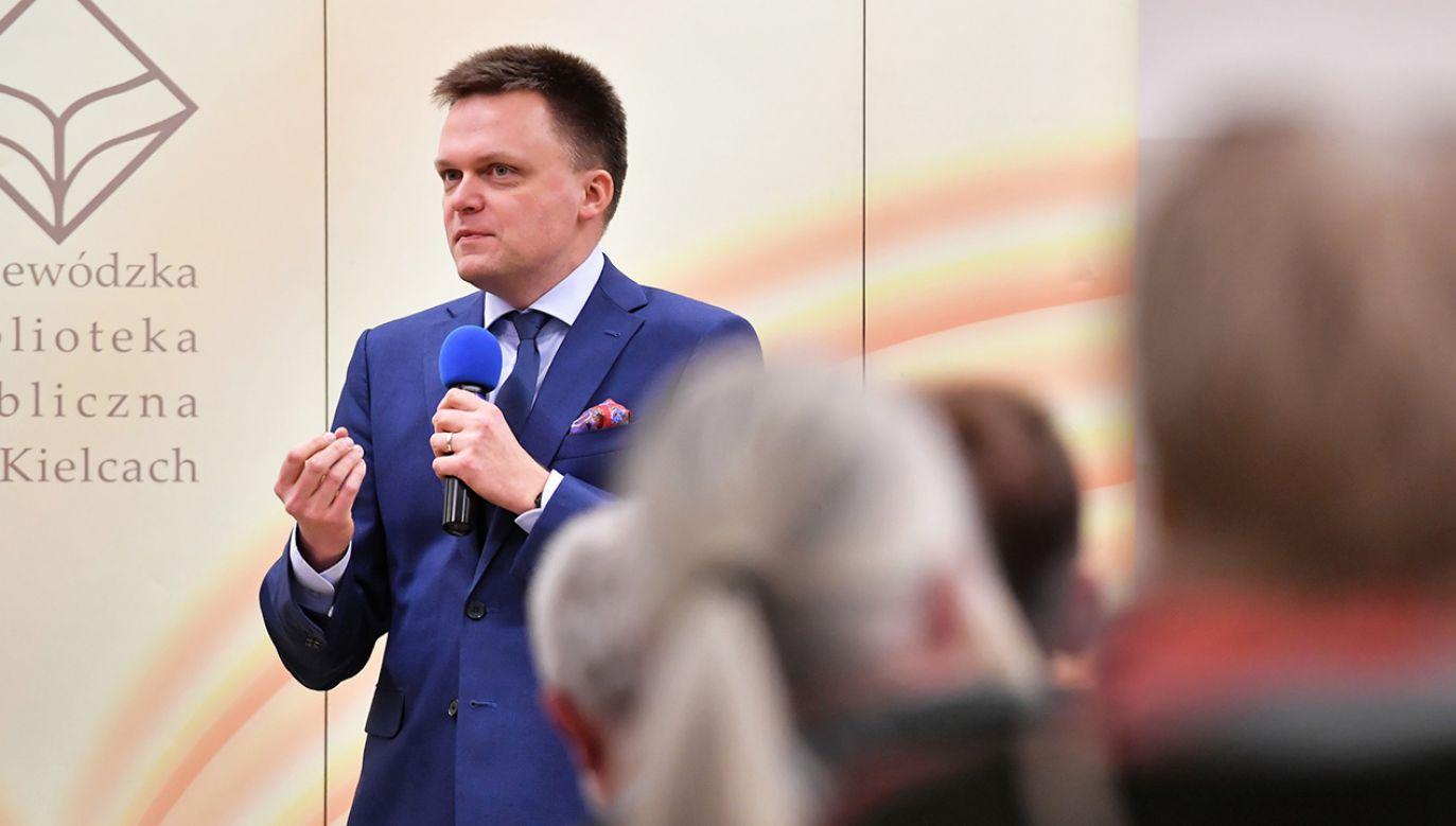 Szymon Hołownia wziął sobie na doradcę gen. Mirosława Różańskiego (fot. PAP/Piotr Polak)