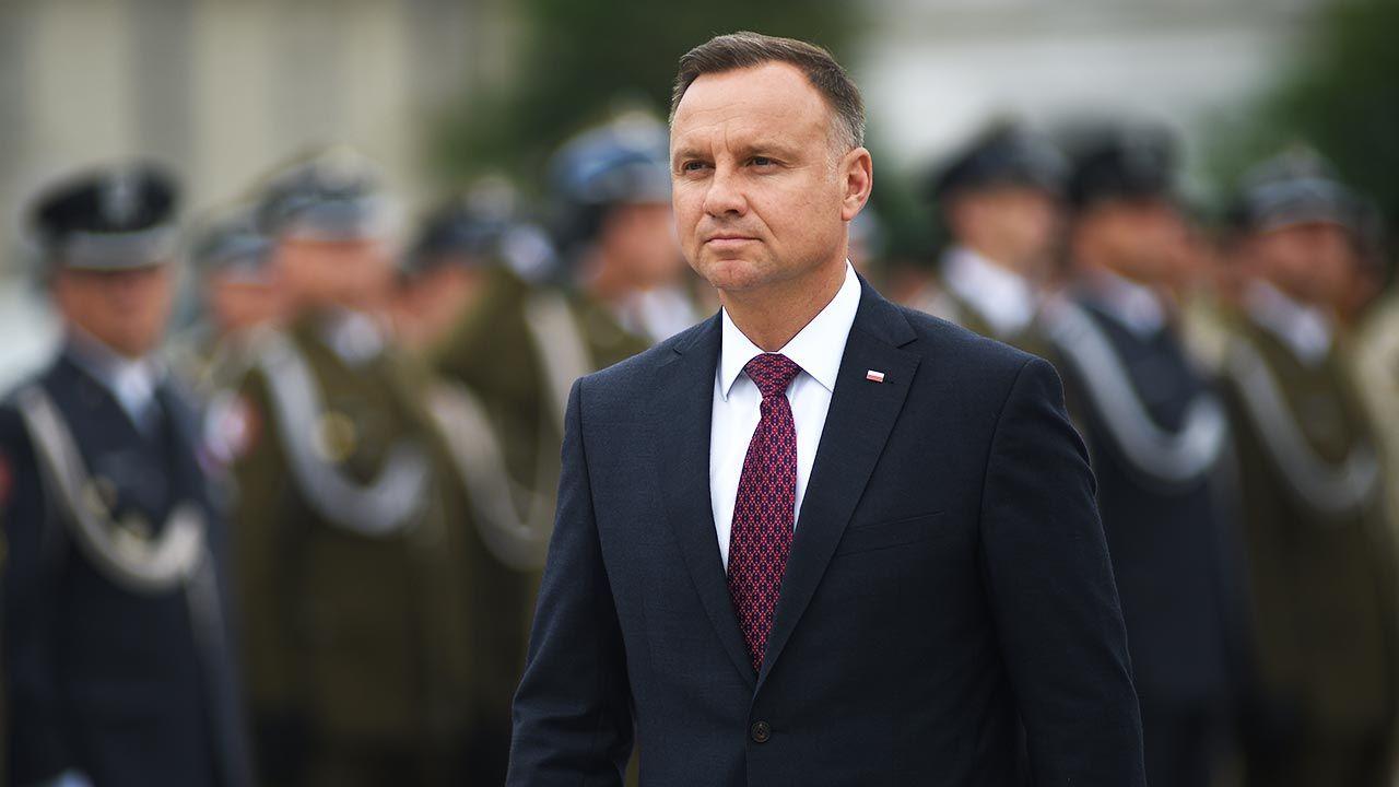 Prezydent Duda o polityce Zjednoczonej Prawicy (fot. Forum/Adam Chelstowski)