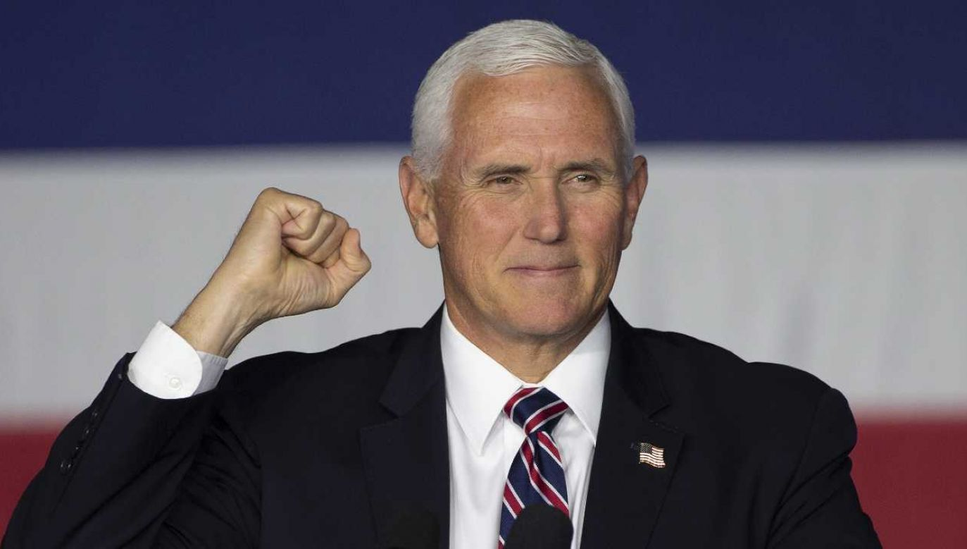 Wiceprezydent USA Mike Pence wracał z wiecu wyborczego (fot. PAP/EPA/CJ GUNTHER)