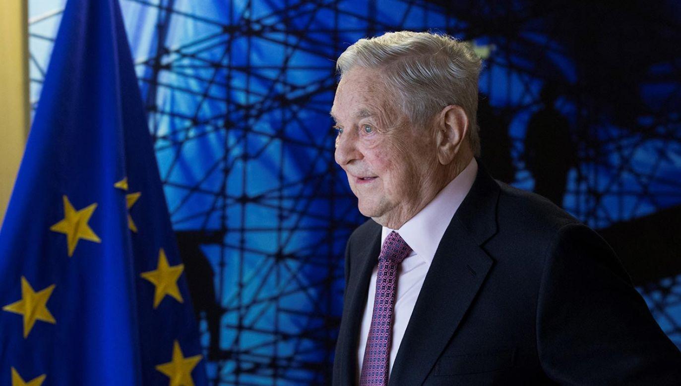 George Soros przedstawił kontrowersyjną propozycję  (fot. Olivier Hoslet / EPA / Pool/Anadolu Agency/Getty Images)