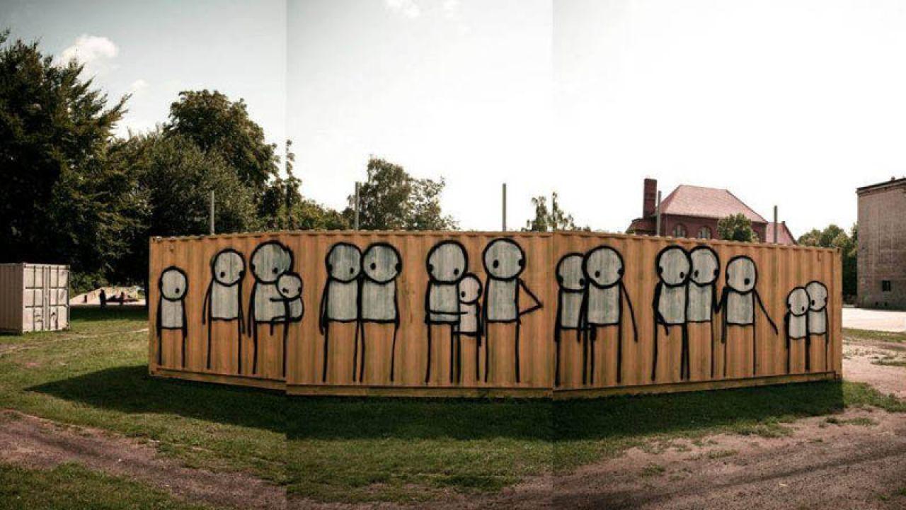 Kontener został pomalowany w ramach warsztatów dla młodzieży z Dolnego Miasta w Gdańsku (fot. CSW Łaźnia)