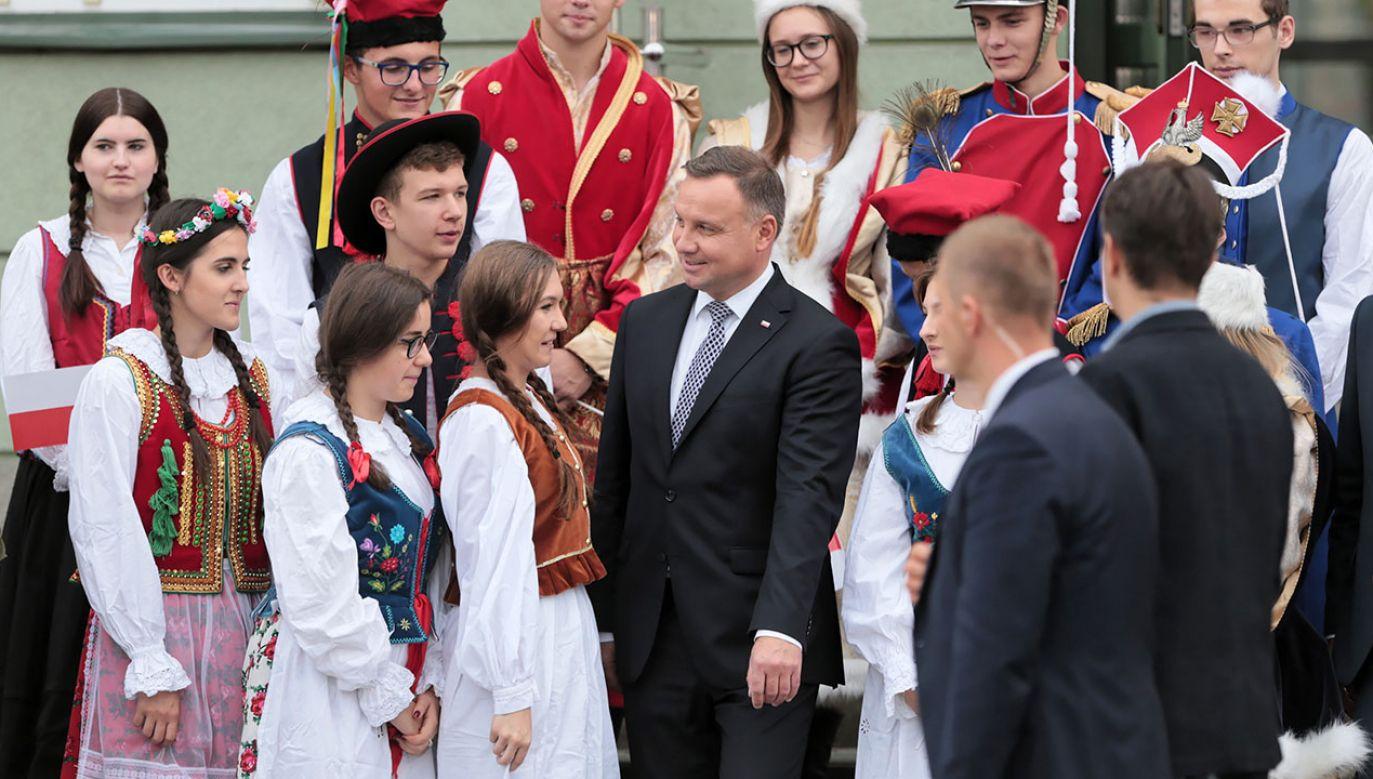 – Polska nie może być państwem taniej siły roboczej – mówił Andrzej Duda w Białobrzegach (fot. PAP/Leszek Szymański)