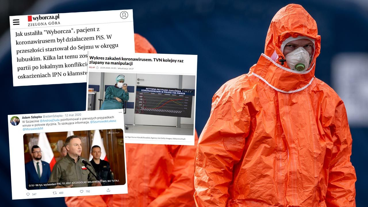 Fake newsy o koronawirusie z początków epidemii w Polsce (fot. Lukas Kabon/Anadolu Agency via Getty Images)