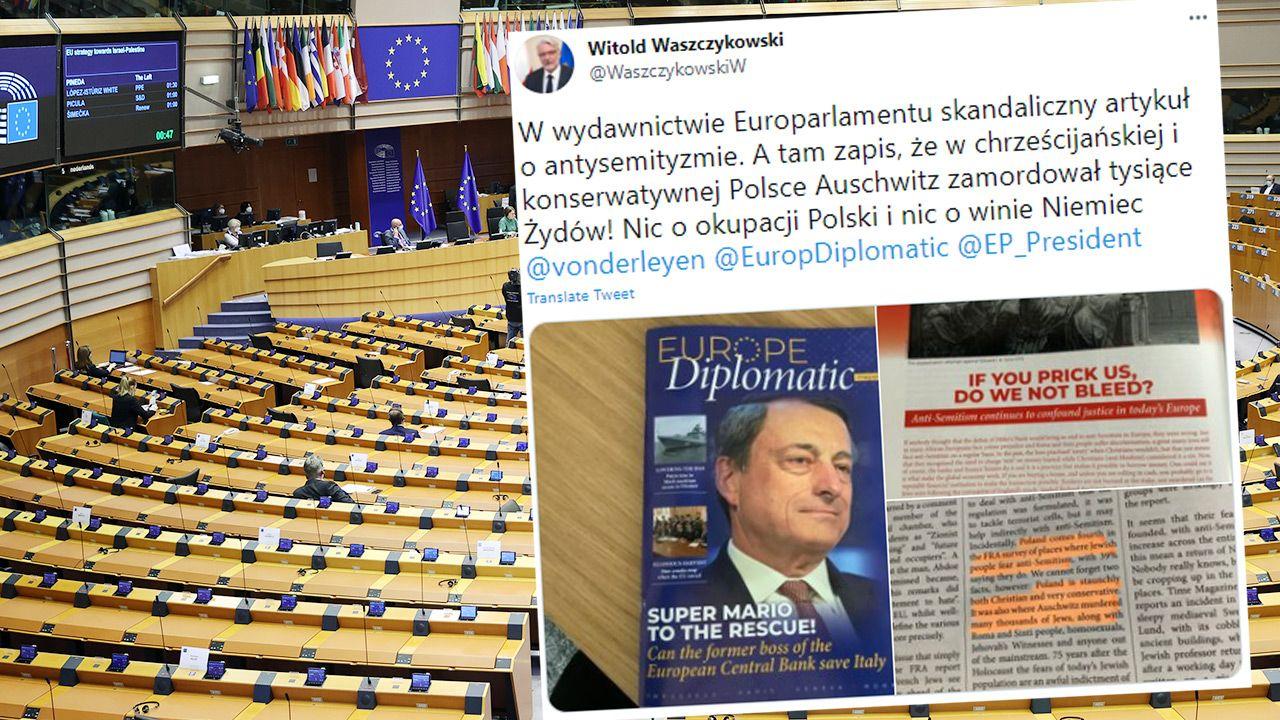 Informację o kontrowersyjnym artykule przekazał Witold Waszczykowski  (fot. Dursun Aydemir/Anadolu Agency via Getty Images; TT)