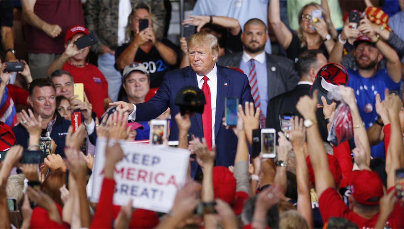 Donald Trump będzie ubiegał się o reelekcję w przyszłorocznych wyborach (fot. PAP/EPA/CJ GUNTHER)